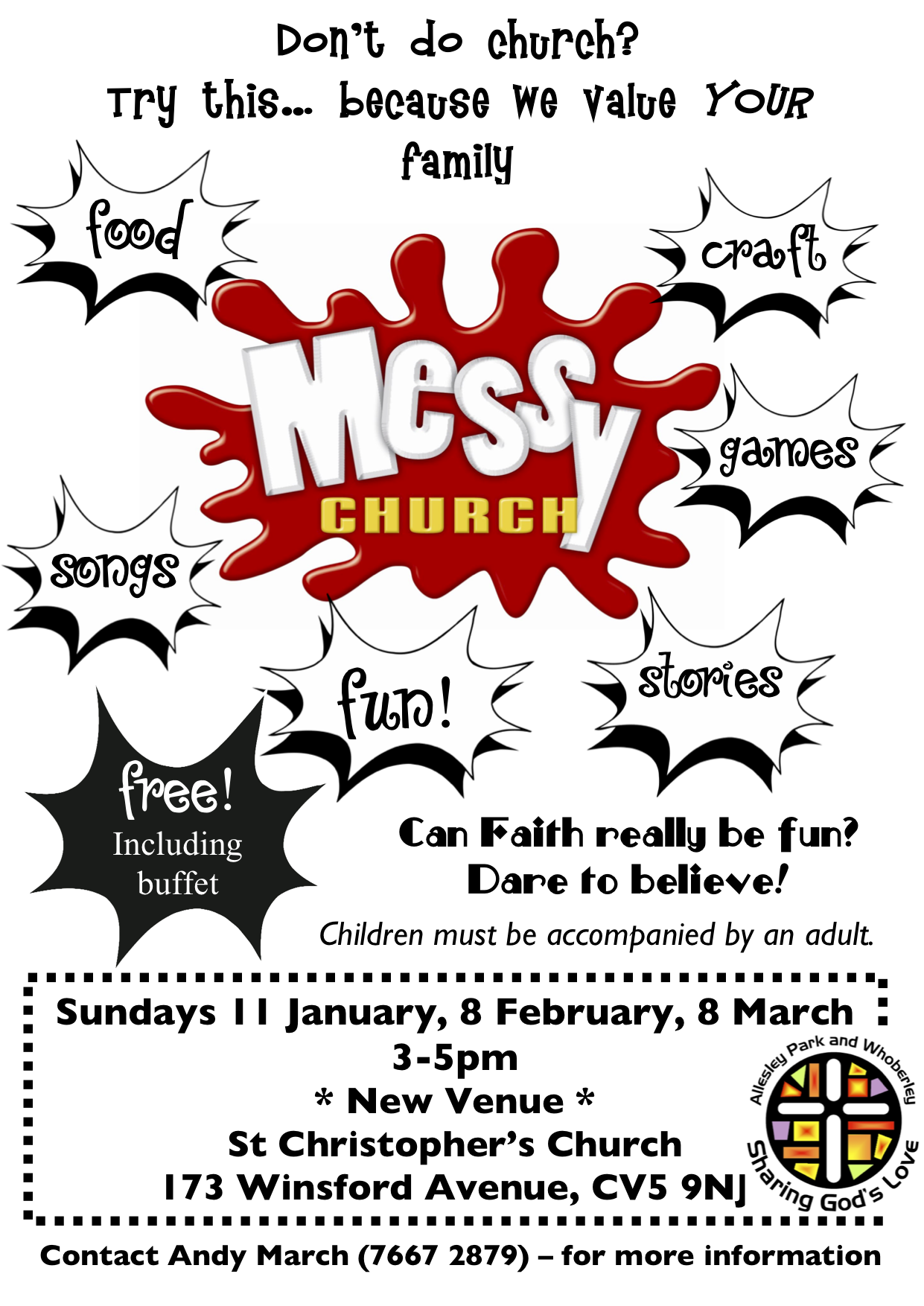 messy church flyer 2015