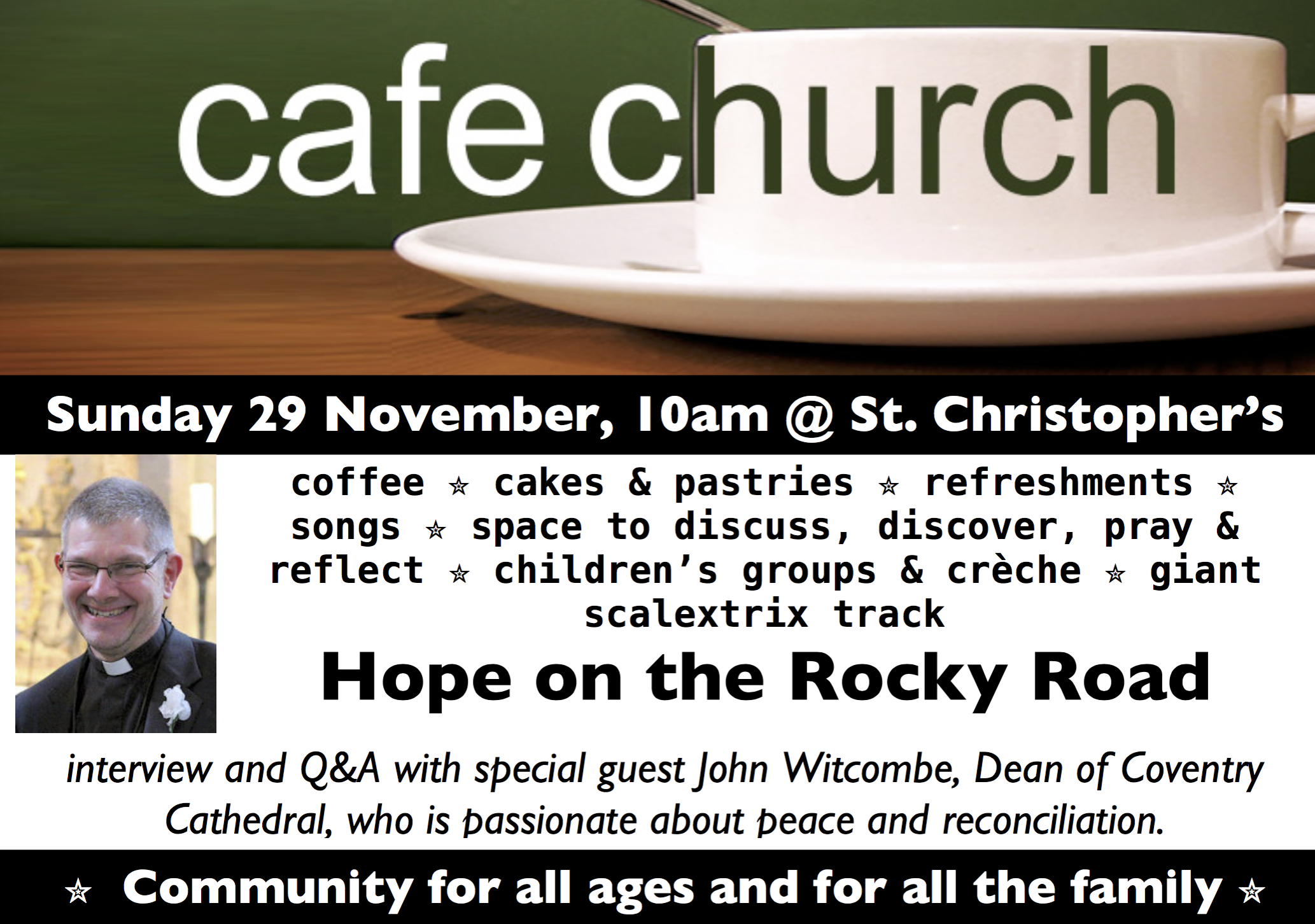 cafe church flyer - advent