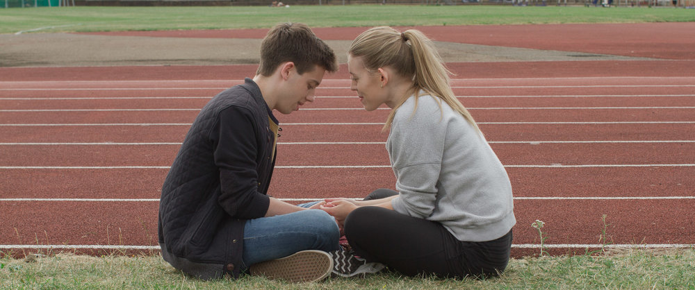"Tom Cawte and Olivia Sawbridge in the short film ""Comeback Kid"""