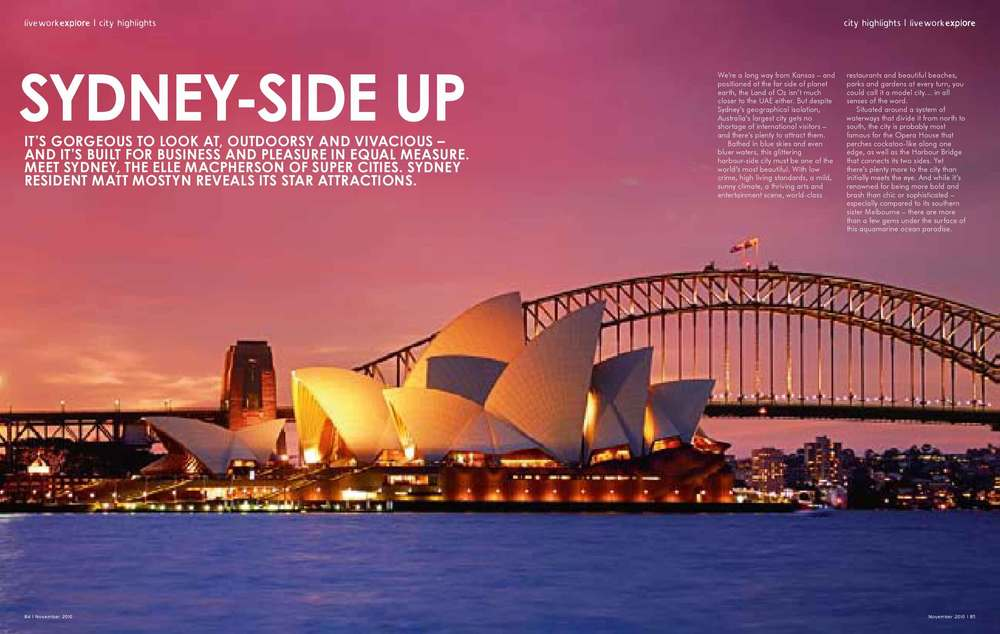 City guide magazine feature