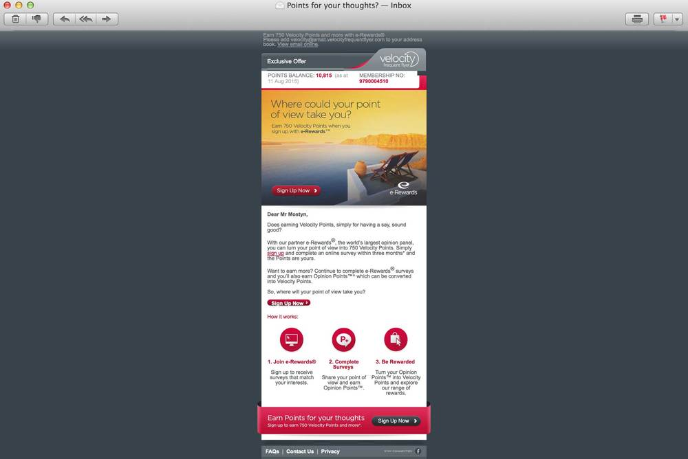Virgin email campaigns