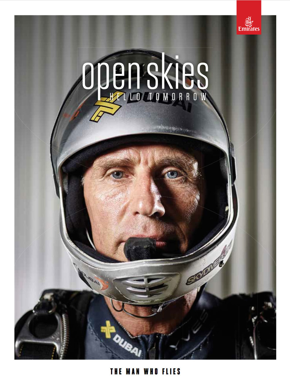 Emirates 'Open Skies' magazine cover story
