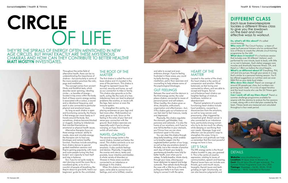 Health magazine feature