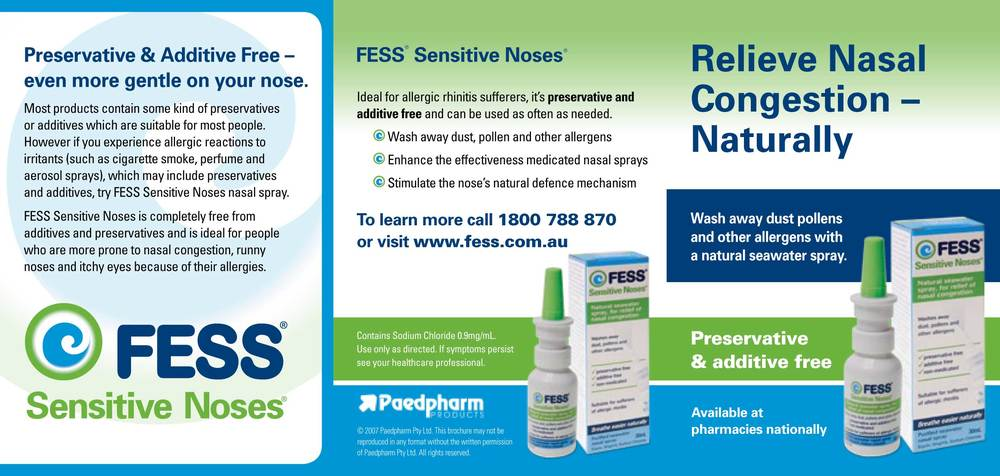 Nasal spray product copy