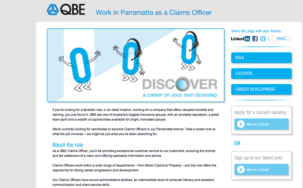 QBE online recruitment campaign