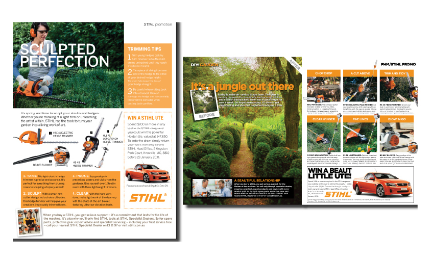 STIHL magazine advertorial
