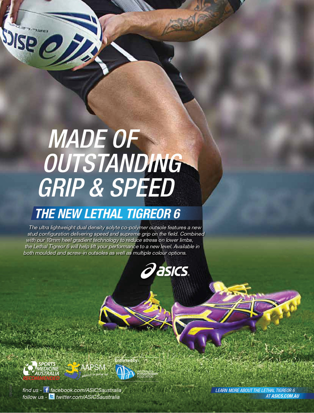 ASICS press ad
