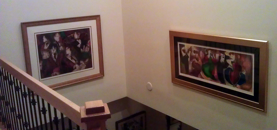 the paintings of the Greene residence.