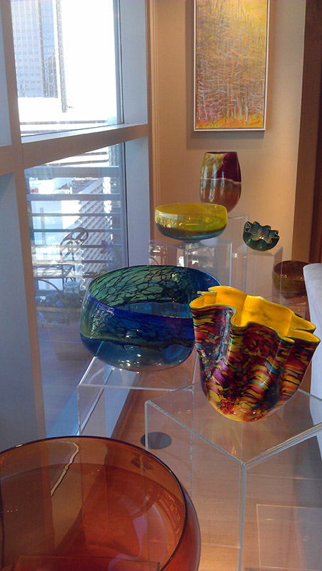 Sculptural glass works by Dale Chihuly.