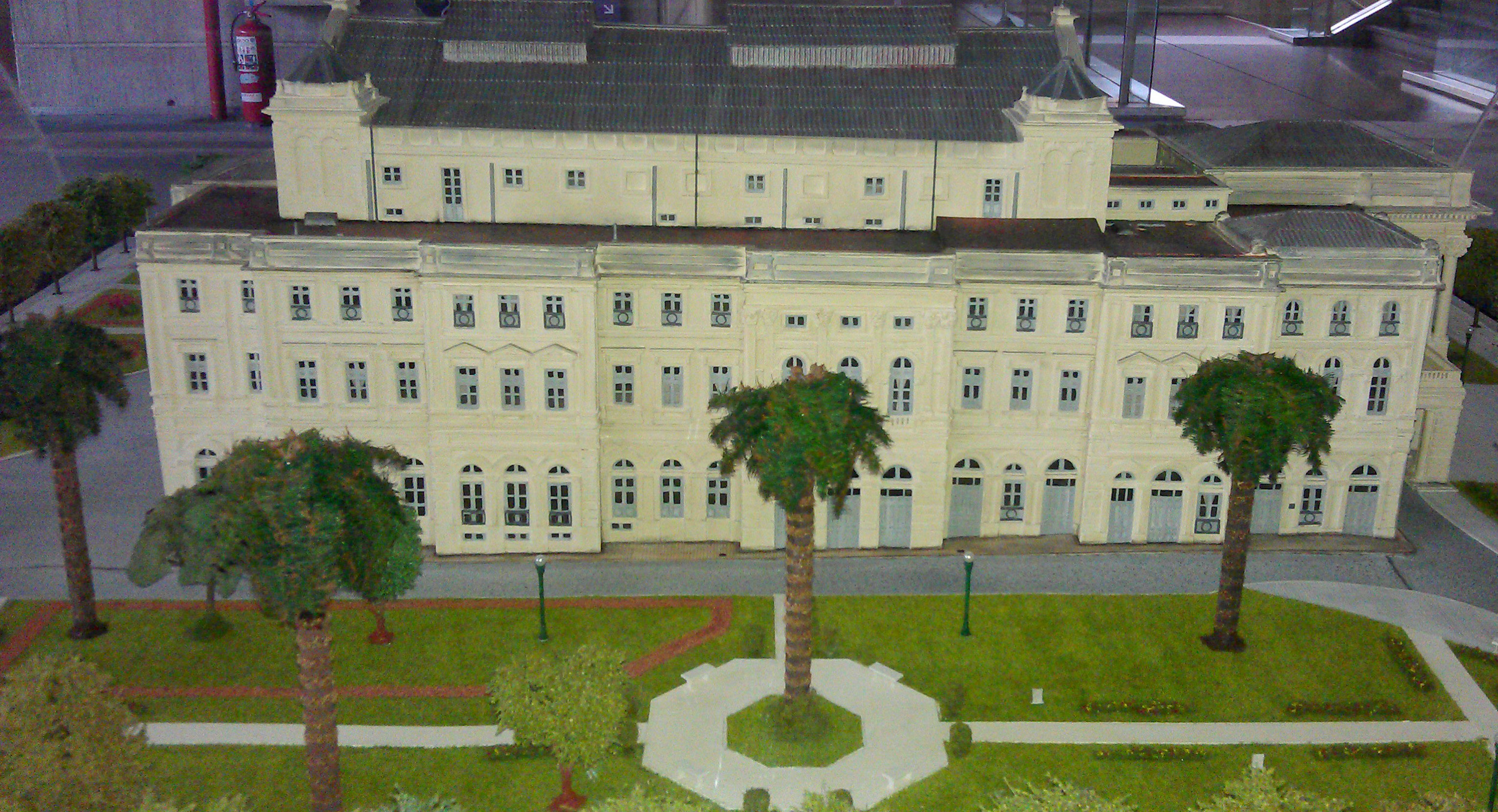 Model of the original theater.
