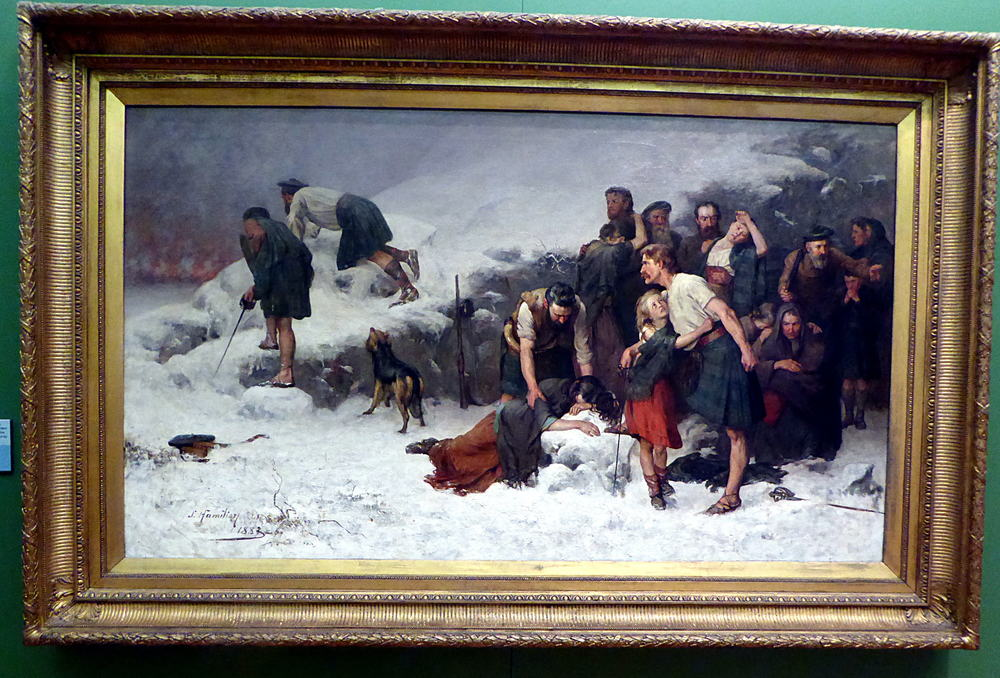 Massacre of Glen Coe, 1883-86, James Hamilton oil on canvas