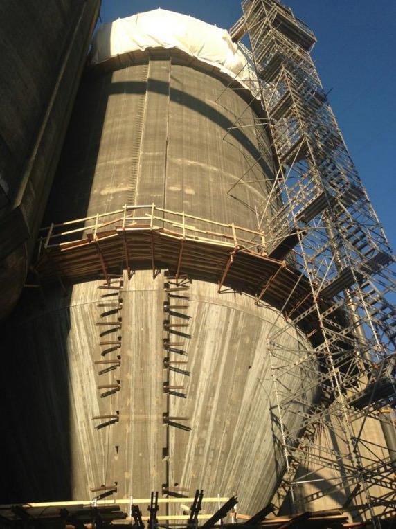 Glid av silo øverste del