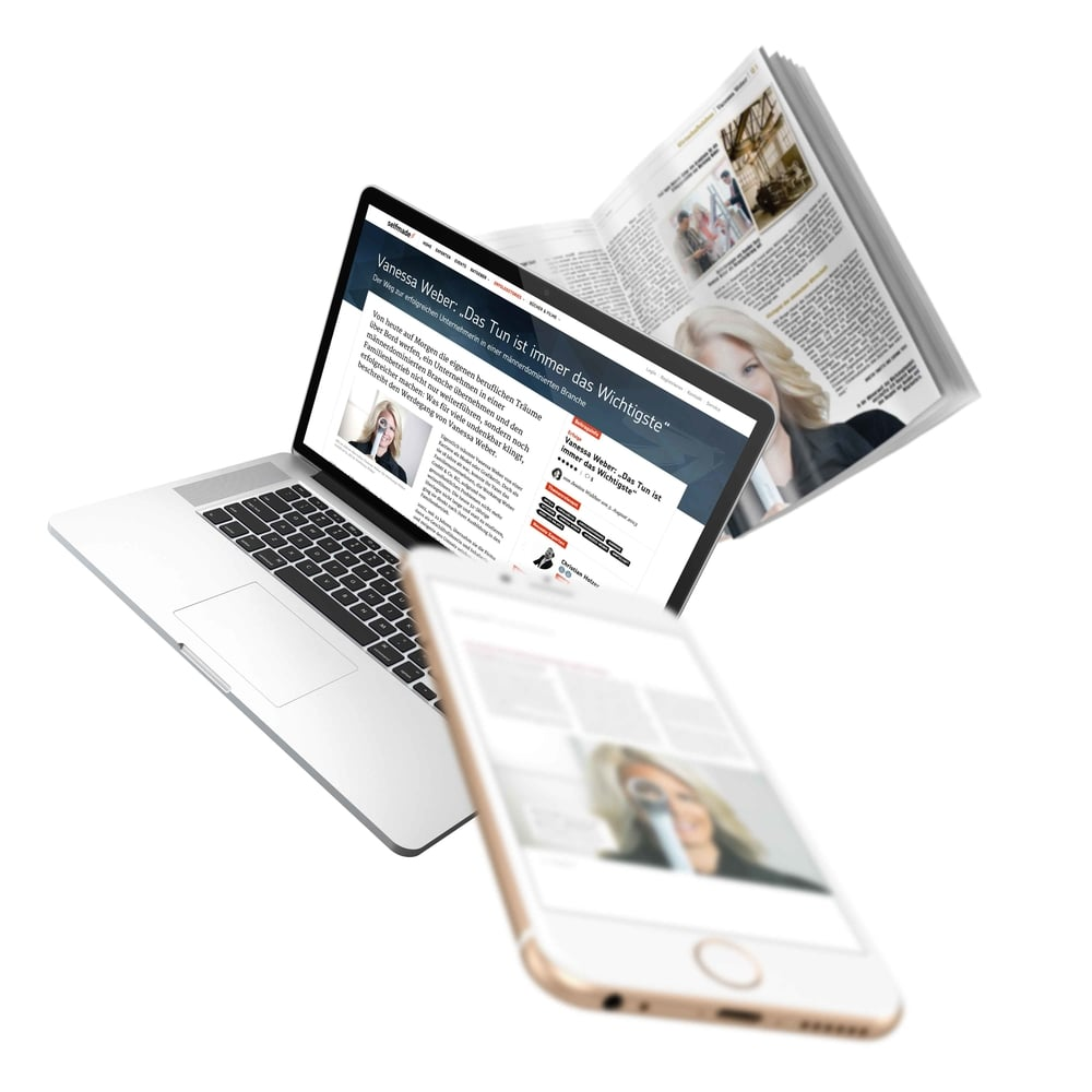 Vanessa Weber in Printmedien und Web