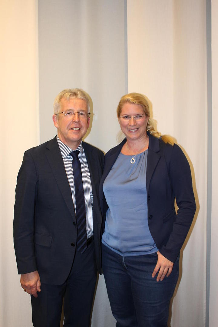 Dieter Gerlach und Vanessa Weber