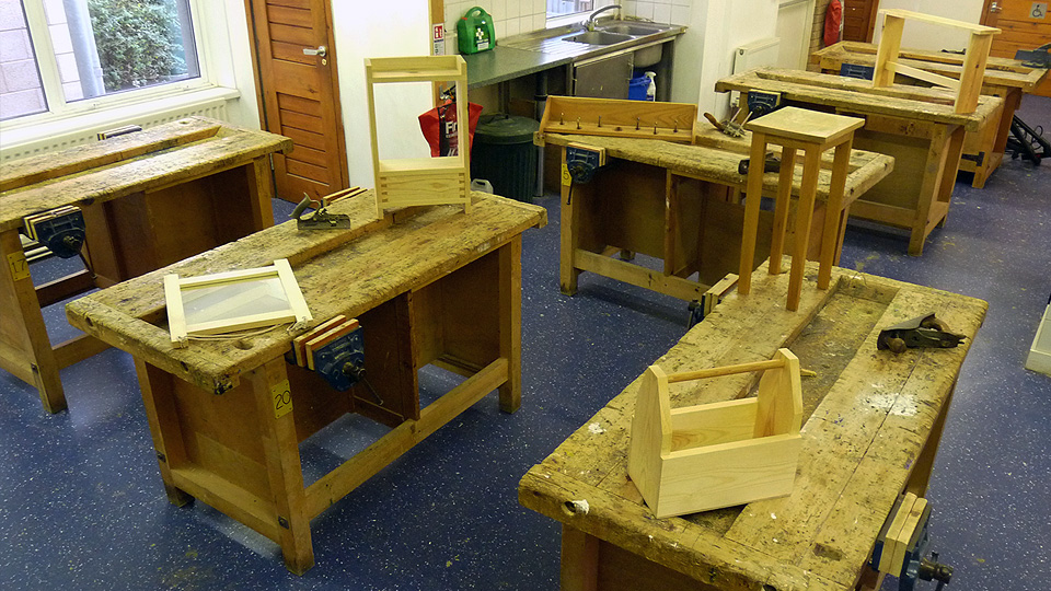 The Makershed, running woodwork, carving, carpet fitting, tiling and upholstery courses in Bristol