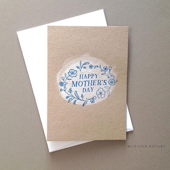 Louisa Boyles Letterpress mothers day card