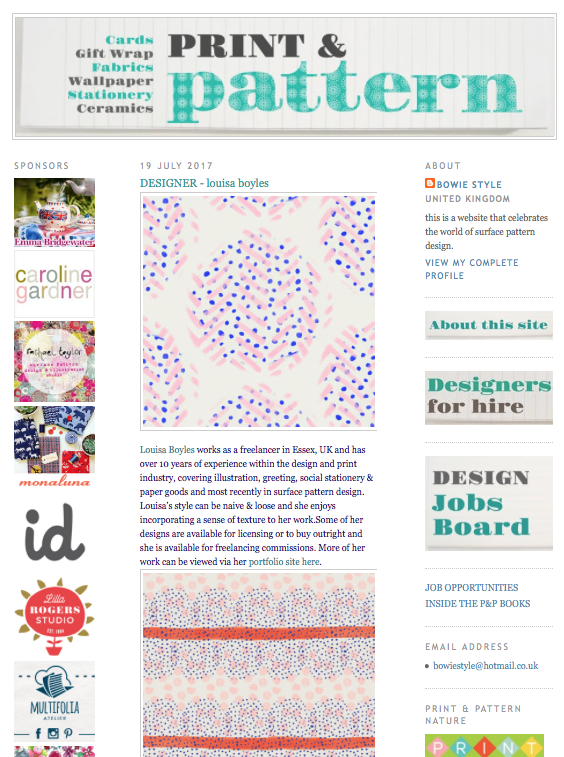 Print & Pattern Feature image
