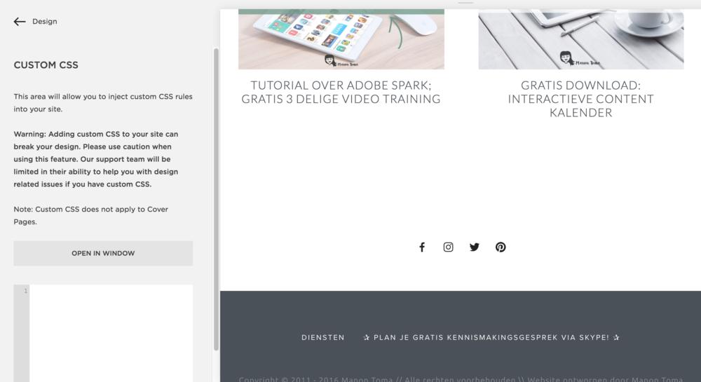 CSS aanpassen in Squarespace.png