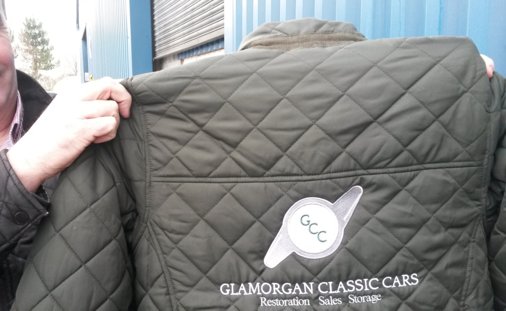 Keep an eye out for Glamorgan Classic Cars' new logo