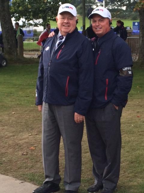 Bob Philbrick & Jim at Ryder Cup, Gleneagles