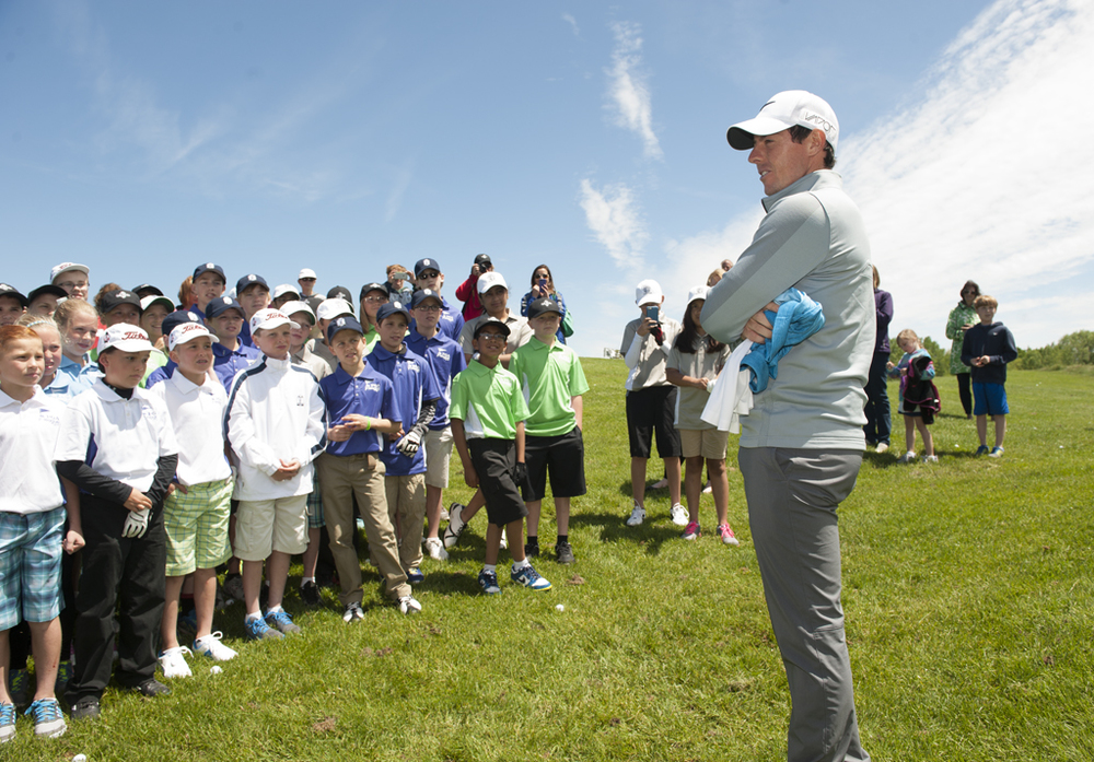 Rory with PGA Junior League Golfers at Whistling Straits