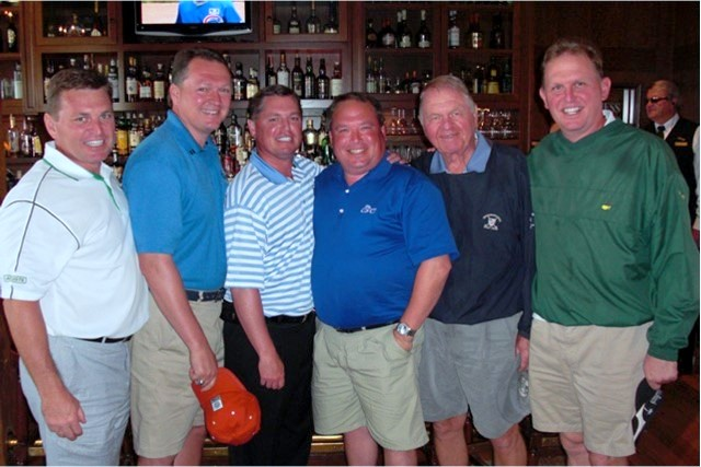 Another family golf outing - Dad and the boys