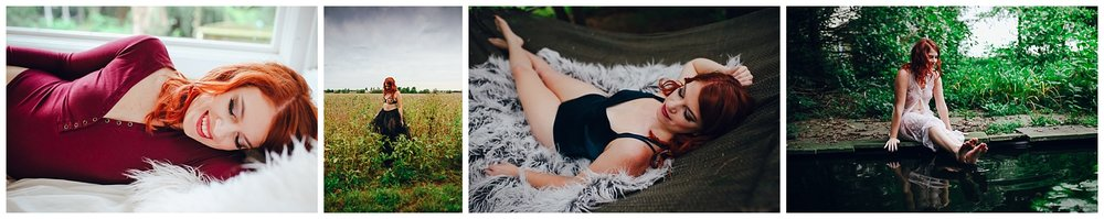redhead boudoir | outdoor boudoir | indiana boudoir | franklin indiana | bloomington indiana