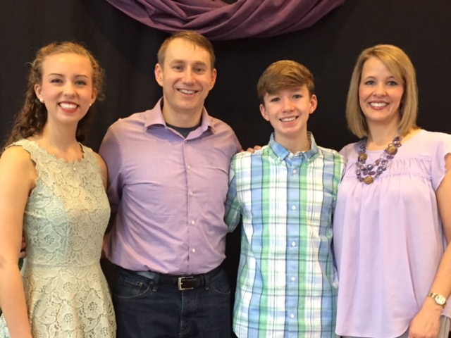 Lead PastorAllen Bonell - and his wife Robin, daughter Rachel, and son Noah.