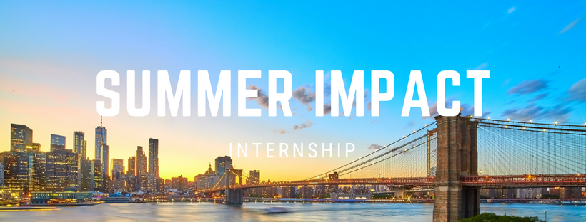 Summer Impact Internship - An 8-week summer internship experience for college students and young adults. Take a risk. Have a blast. Make an impact... in Kentucky, Panama City, and New York City!