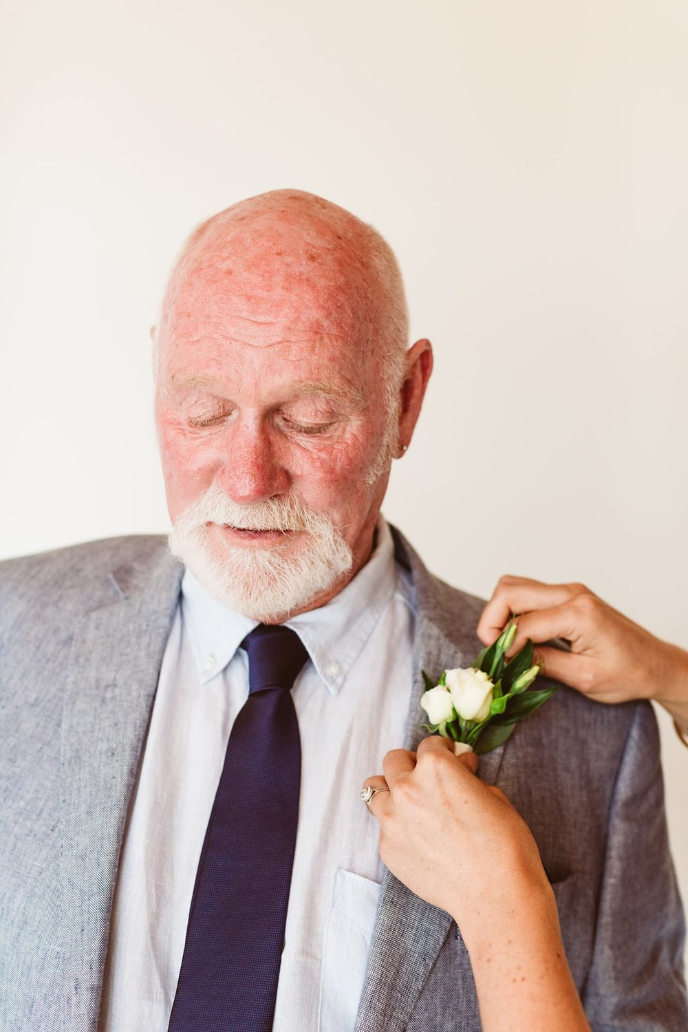 Swift and Click Wedding Photo Groom Buttonhole Boutonniere Wedding Day Flowers Florist Wellington Family Father of Bride