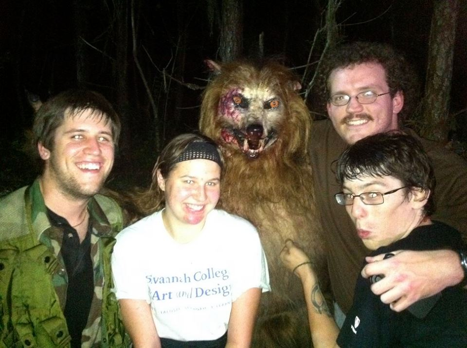 Werewolf photo bomb, a first for the genre!