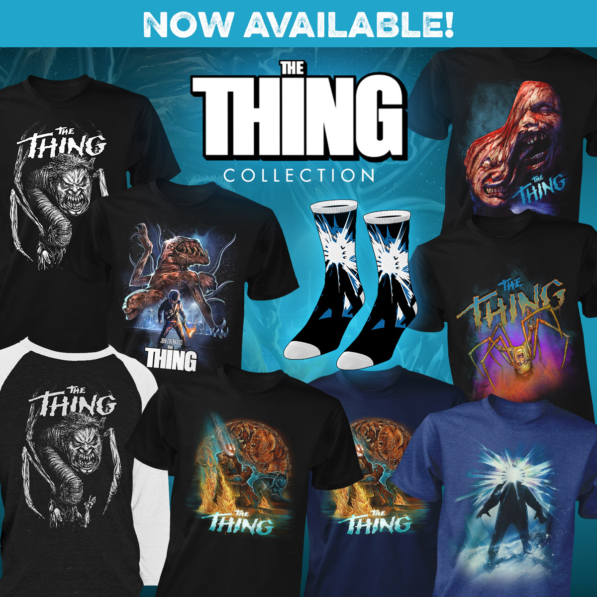THE THING Apparel Collection Available from FRIGHT RAGS