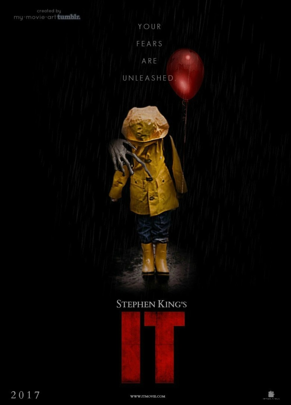 n a small town of Derry, Maine, seven children come face to face with life problems, bullies and a monster that takes the shape of a clown called Pennywise.