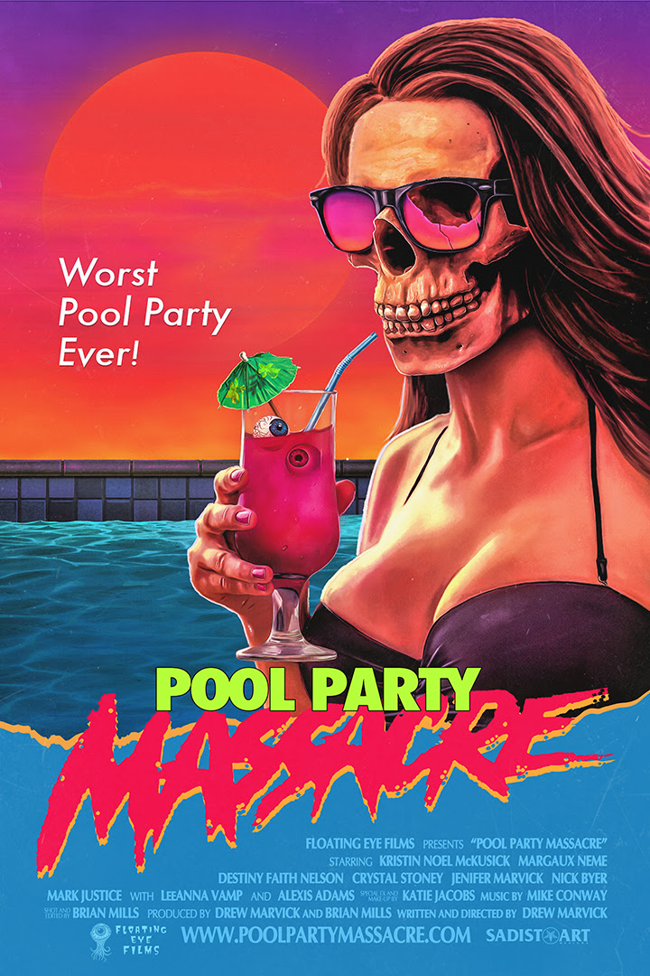 Blair Winthorpe, a high-maintenance young socialite, is having a pool party while her parents are out of town. What should have been a relaxing summer day spent tanning for the girls quickly becomes a blood soaked nightmare when an unknown guest crashes the party.  He finds a garage full of dangerous toys and gets to work stalking and dismembering them one by one.