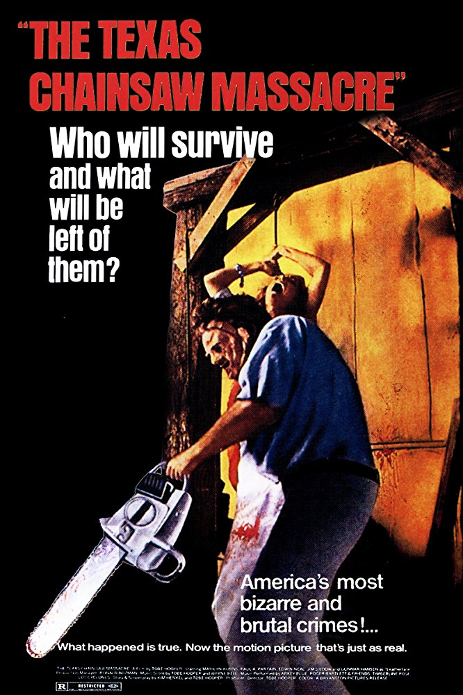 Synopsis - When Sally (Marilyn Burns) hears that her grandfather's grave may have been vandalized, she and her paraplegic brother, Franklin (Paul A. Partain), set out with their friends to investigate. After a detour to their family's old farmhouse, they discover a group of crazed, murderous outcasts living next door. As the group is attacked one by one by the chainsaw-wielding Leatherface (Gunnar Hansen), who wears a mask of human skin, the survivors must do everything they can to escape.Release date:October 1, 1974 (USA)Director:Tobe HooperBudget:140,000 USDBox office:30.8 million USDStory by:Tobe Hooper,Kim Henkel