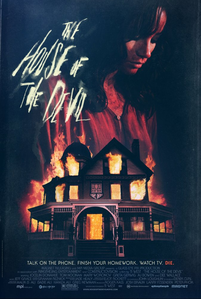 Synopsis  - Desperate to make some money so she can move into a new apartment, college student Samantha Hughes (Jocelin Donahue) takes a mysterious babysitting job. When she arrives at the house, Mr. Ulman (Tom Noonan) mentions a full lunar eclipse and explains there is no child, but that Samantha will be watching his mother instead. After exploring the sinister-seeming house, Samantha soon comes to realize that her employers are hiding a horrifying secret and have plans to use her, dead or alive.Initial release: April 25, 2009Director: Ti WestBudget: 900,000 USDScreenplay: Ti WestProducers: Larry Fessenden, Peter Phok, Josh Braun, Roger Kass