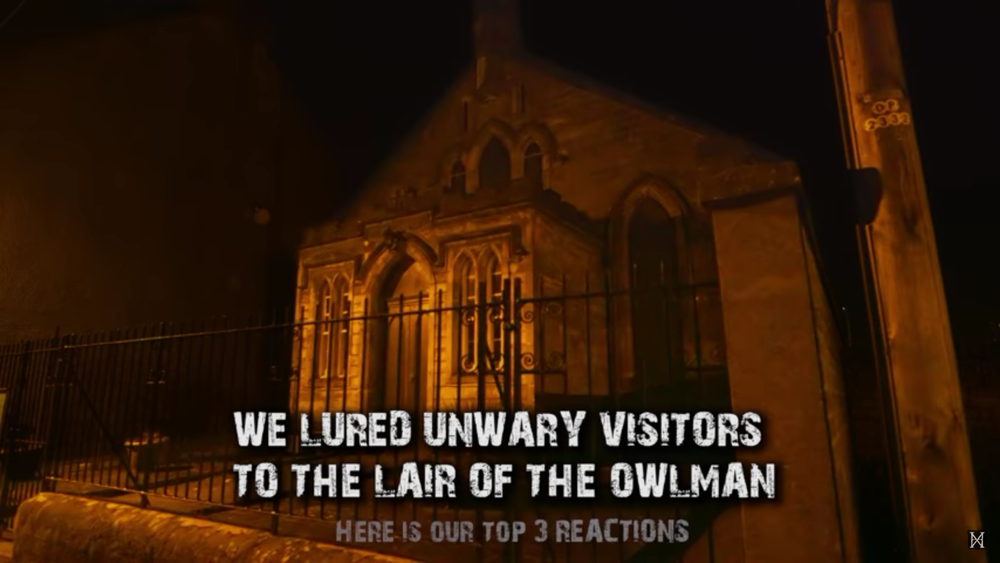 "The Owlman Returns To Terrify The Public In His Most Epic Prank Yet  You might remember The Owlman from a series of pranks set in a creepy abandoned hospital that went viral last year. Now, the feathered fiend continues his reign of terror in an epic new prank. Watch as visitors to a church in Fife, Scotland get the fright of their lives when the Owlman drops in, backed up by a terrifying throng of masked cultists!  This is undoubtedly the team's most ambitious, and outrageous prank yet, with a finale so absurd and hilarious that it truly has to be seen to be believed.  Created by Scotland's Hex Studios, The Owlman is the star of two feature films – cult favourite LORD OF TEARS and upcoming chiller THE OWLMAN: CHAPTER TWO.   THE OWLMAN: CHAPTER TWO, due for release later this month, sees The Owlman reprise his role as a nightmarish entity bent on creating chaos and suffering for all who cross his diabolical path. Shot in a haunted mansion in the Highlands of Scotland, the film is a classic spine-tingler, starring horror icons  Macarena Gómez  (DAGON, SHREW'S NEST) and Nicholas Vince (HELLRAISER, NIGHTBREED).    According to Hex Studios Director/Producer Lawrie Brewster ""Our YouTube channel is a really great way for us to connect with and build our audience. The Owlman pranks have proven to be especially popular, and of course they're tons of fun to make, but we're also producing creepypasta videos, mini-documentaries and all kinds of content that broaden the world of our films, and let fans reach out and interact with us and our creations.""    To keep up with The Owlman's latest high-jinks, subscribe to Hex Studios' YouTube channel here:  https://www.youtube.com/channel/UChKvLAa0i8fe0ASFThnyGUw"