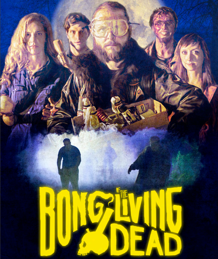 Bong of the Living Dead is the story of five friends who share both a love of pot and a lifelong dream to see the zombie apocalypse become reality. But when the undead actually rise to gruesomely (and hilariously) eat the living, the group discovers it's not all corpse-killing montages and mall raids … and that their relationships will be pushed to the limit if they're going to survive.