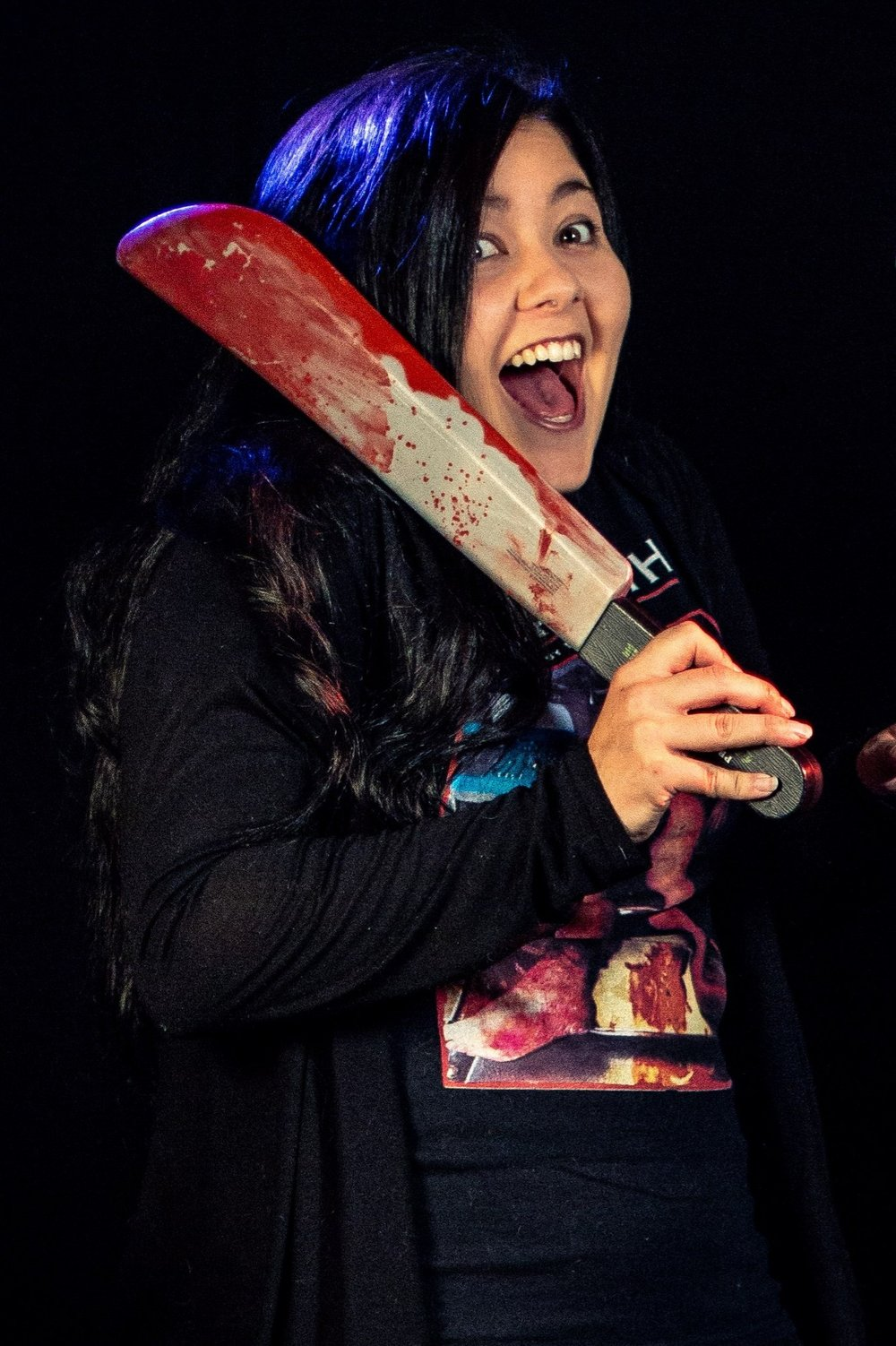 JASMINE MARTINEZ -   (Bitches of Horror Podcast Co-Creator and Co-Host)I'm a crazy Puerto Rican Swedish girl straight out of New Jersey who loves all things horror. I have a soft spot for Splatter and occult movies. I'm the co-host of Bitches of Horror and also the proof reader for the independent underground gore magazine,
