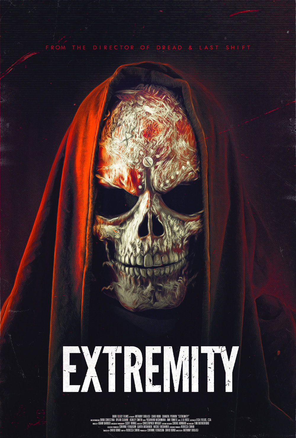 - A young woman obsessed with horror subjects herself to hours of grueling torment inside an extreme haunt in an attempt to confront her fears and conquer the tragic past that haunts her.EXTREMITY, directed by Anthony DiBlasi (Last Shift, The Midnight Meat Train), will release on October 2nd with a limited theatrical just in time for the Halloween season. Get ready for a thriller that will have you on the edge of your seat and out of your mind.