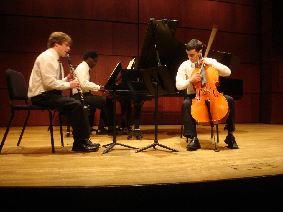 Performing Zemlinksy's Clarinet Trio in d minor with Matt Goff (clarinet) and Max Manzanarez (cello)