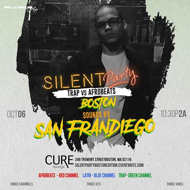 I'll be back at the Silent Party next month‼️ @curelounge 10/6 10p-2a 🎧🎵😊 discounted tix in bio ☝️