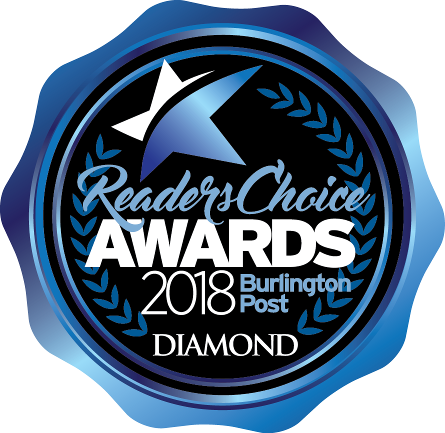 2018 Diamond Burlington Readers' Choice Award for Graphic Design