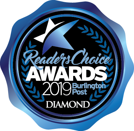2019 Diamond Burlington Readers' Choice Award for Graphic Design