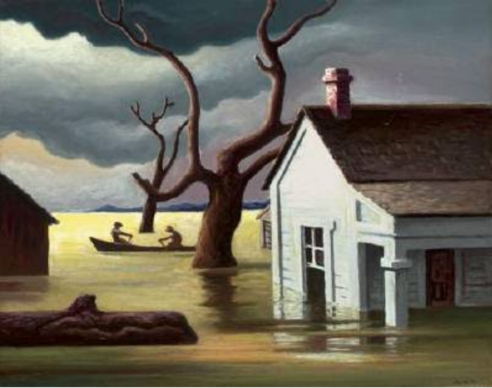 """The Flood"" by Thomas Hart Benton, 1938  via"