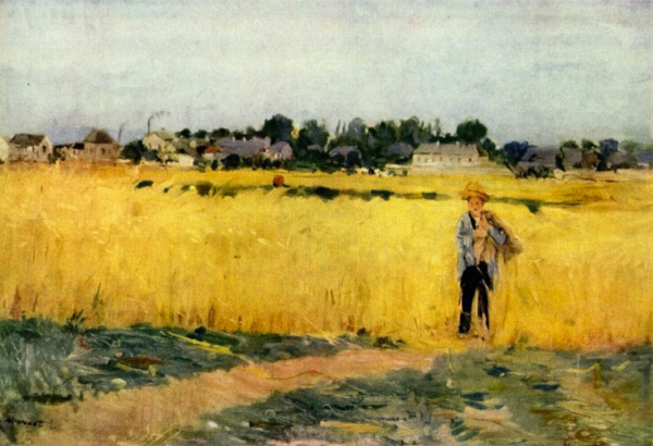 """Grain Fields""  Berthe Morisot"