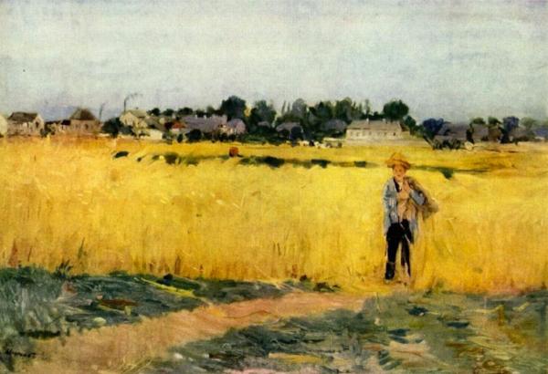 """""""Grain Fields""""  Berthe Morisot"""