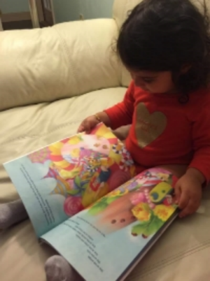 My friend Arianna's daughter Alina reads about April and her adventures in creativity.