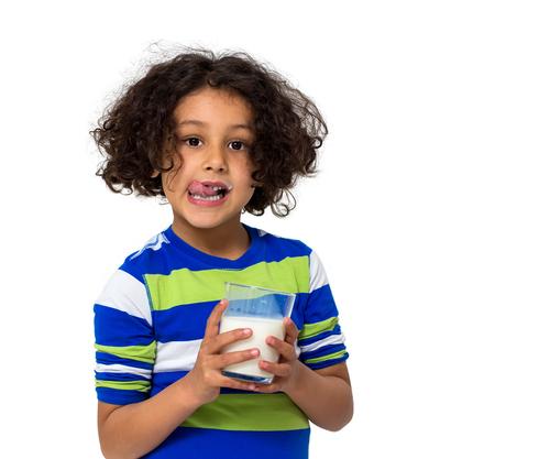 boy with a glass of milk