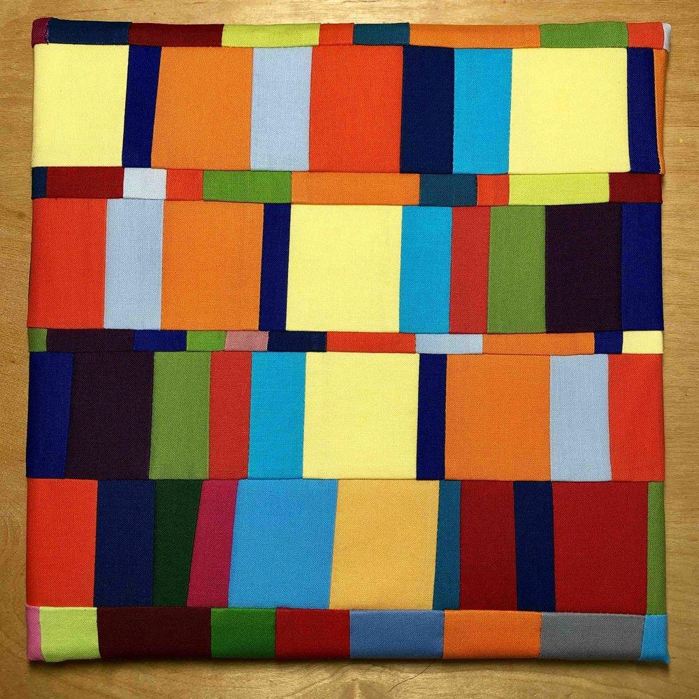 "Pieces  , 10 "" square, Kona cotton, February 2019"